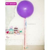 Большой шар с разноцветными лентами