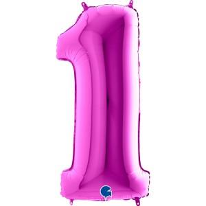 Цифра 1 Фиолетовая