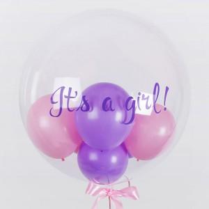 Шар Bubble 61 см с шариками внутри