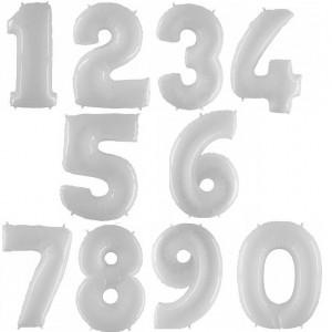 Цифры Белые