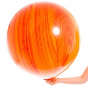 Большой шар Агат Red Orange 75 см