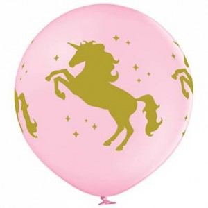 Шар Единорог 60 см розовый