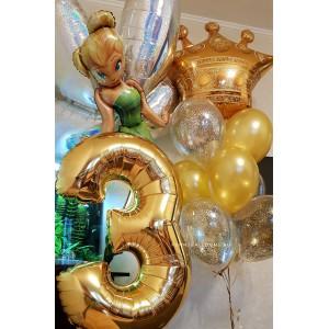 Набор шаров для девочки Золотой