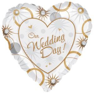 """Фольгированное сердце """"Our Wedding Day"""""""