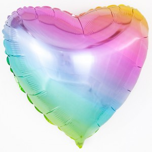 Сердце Нежная радуга, градиент