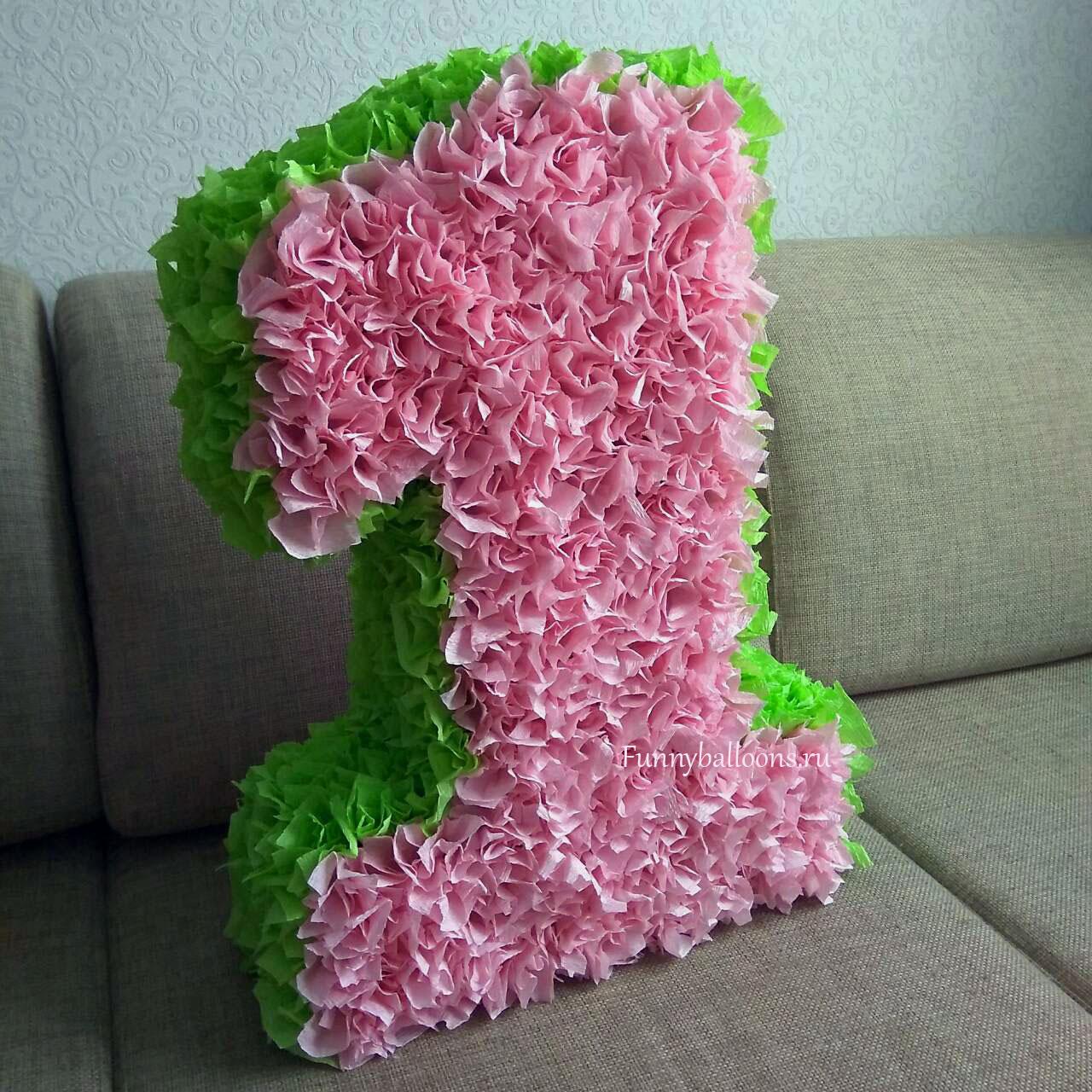 Как сделать цифру из гофрированной бумаги на день рожденья